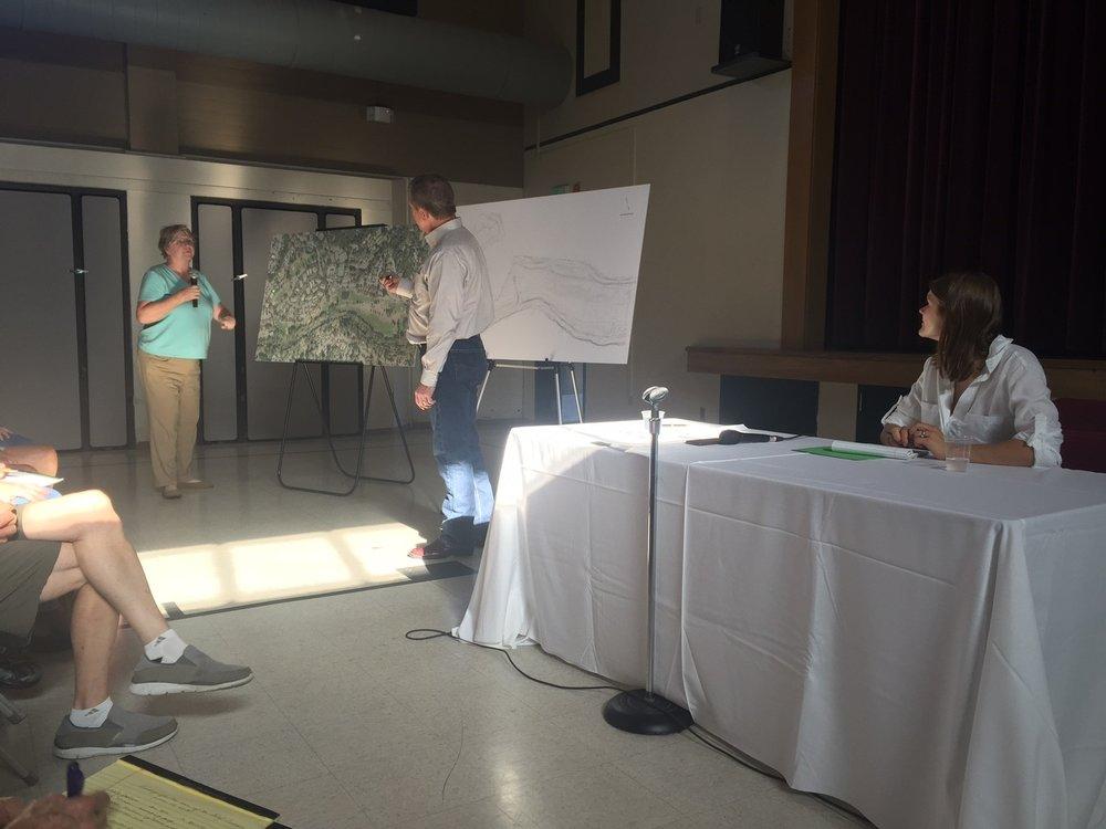 WC Meeting 6.14 TK & KJ at aerial map.jpg