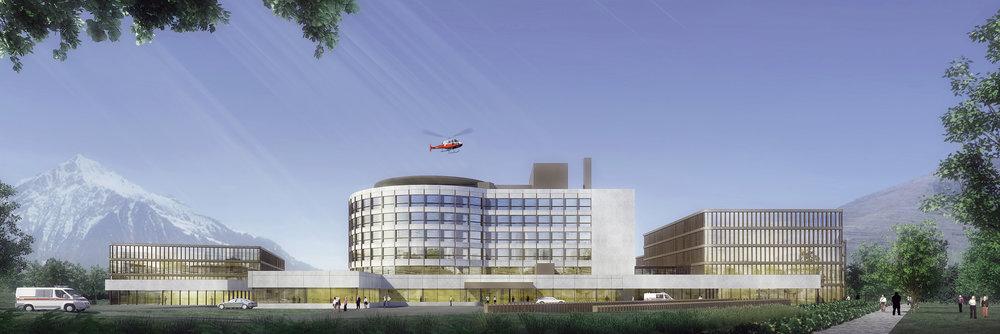 瑞士布里格医院改扩建  瑞士布里格