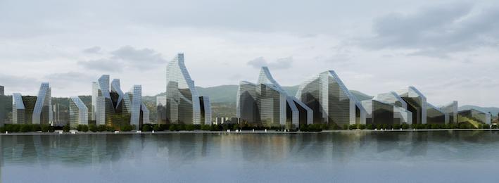 """深圳湾""""超级城市""""城市设计及建筑设计  中国深圳"""