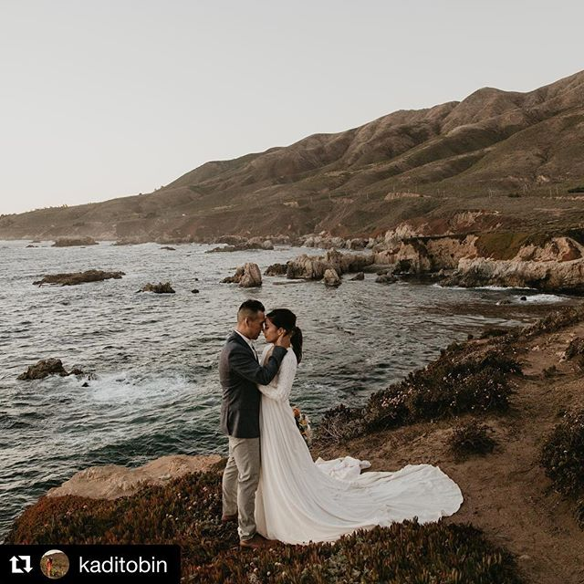 We can't think of a reason, either 😻  #Repost @kaditobin with @get_repost ・・・ I can't think of any reason not to run away and get married in Big Sur.