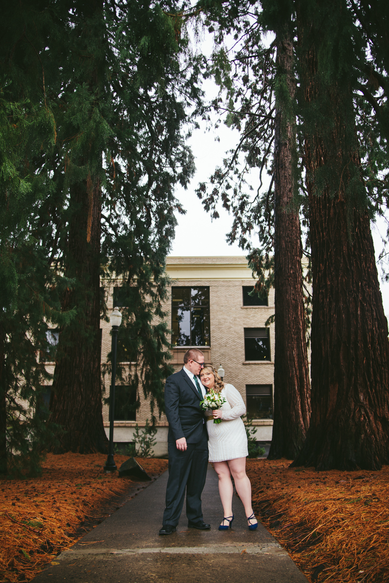 Cristina and Noah's elopement at the Hillsboro, Oregon courthouse | Portland, Oregon Elopement Photography | Hailey King Photography