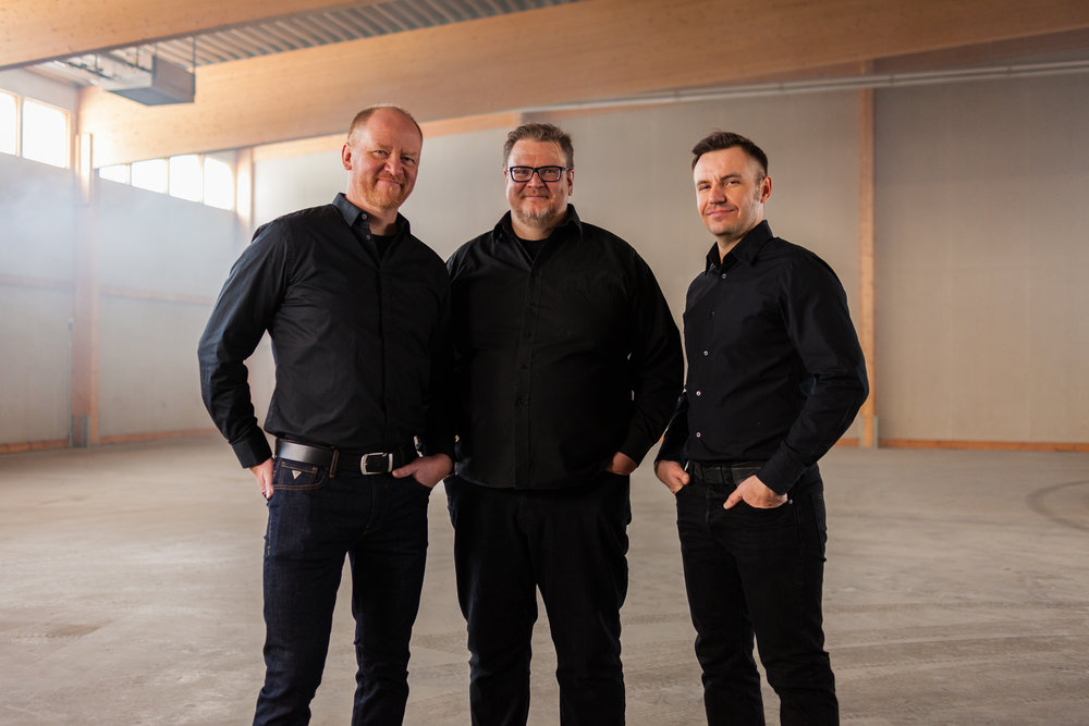 Founders (left to right: Jussi, Antti, Keijo)