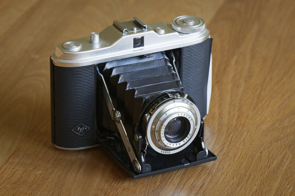 My Agfa Isolette film camera that I used on holiday in Wales