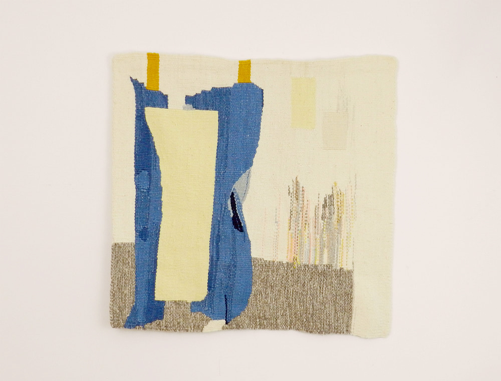 Jefferson Park NYC by Janna Maria Vallee. Naturally dyed wool, weft faced tapestry