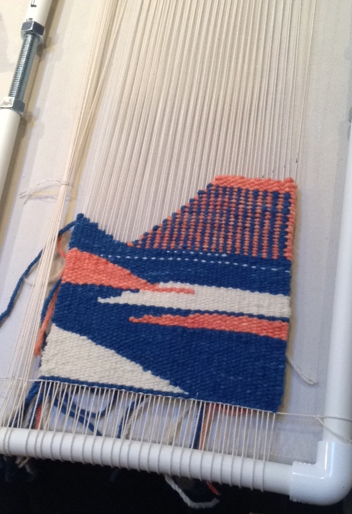 Past student work from a two-day Introduction to Tapestry workshop