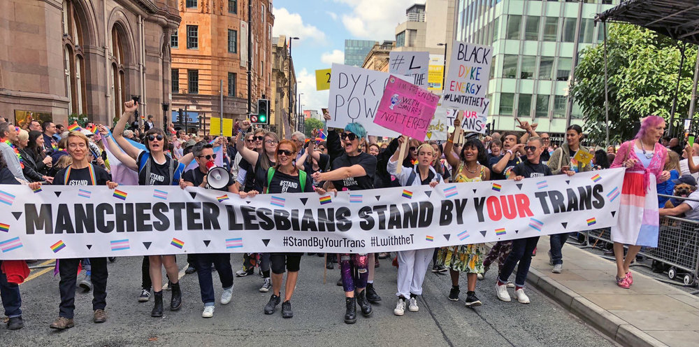 Leading the parade at Manchester Pride 2018