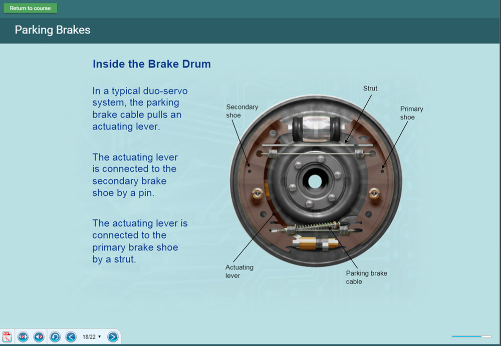 Copy of sample content screens - braking systems