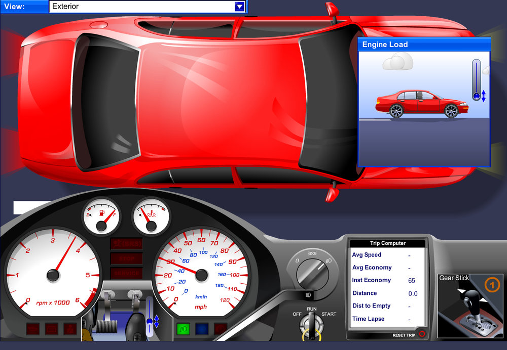 sample content screens - braking systems