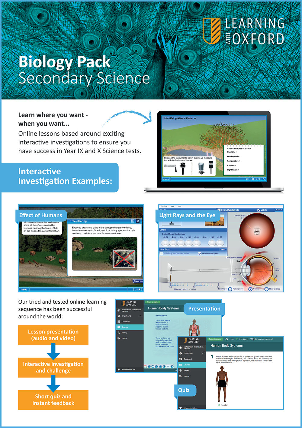 What lesson topics are covered with the licence? - Take a look at our Biology InfoSheet to see a full topic listing.