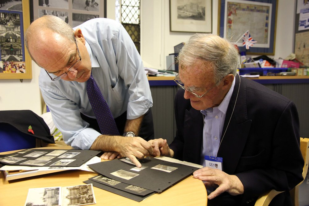 SPR and Ralph Midwinter perusing some archives.JPG