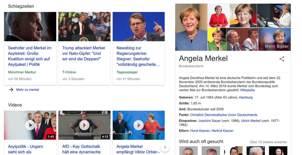 Die Google News sind eine starke Konkurrenz-Anzeige
