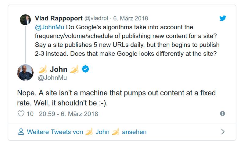 """Original-Tweet: """"Eine Website ist keine Maschine, die Content aus sich herauspumpt"""""""
