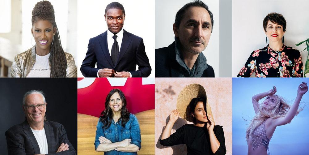 Clockwise from top left:  Bozoma Saint John, David Oyelowo. David Droga, Jamie Robinson. Paloma Faith, Jessie Ware, Jennifer Sey, Jeff Goodby