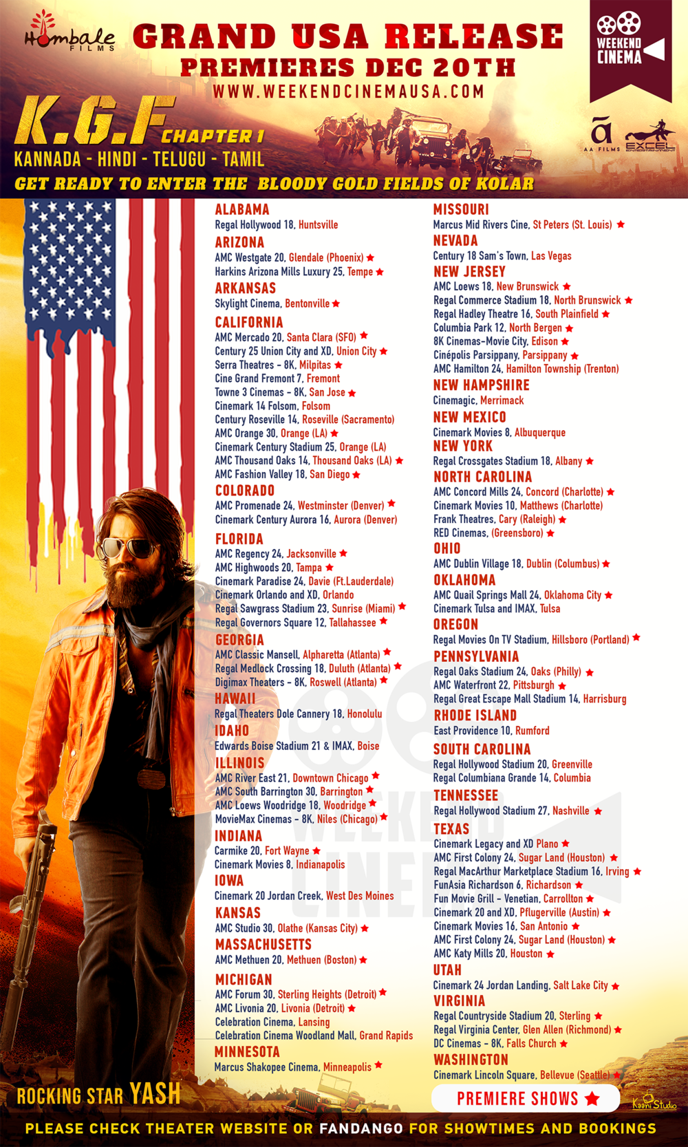 KGF_USA_Release Poster (First Week)