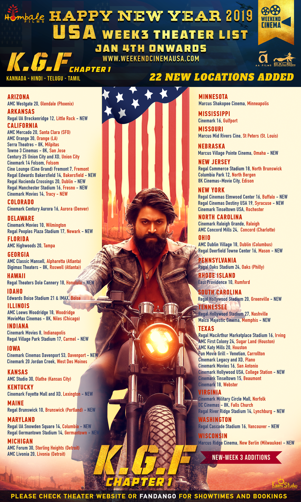 KGF_USA_Release Poster (Third Week) WK3