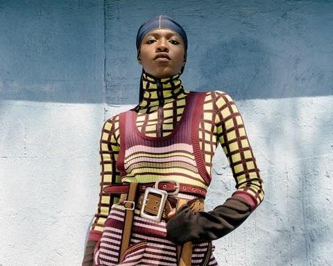 """Hood Dandy"" ensemble designed by Katiuscia Gregoire, BFA Fashion '17, photo by Stevens Añazco, BFA Photography '17."