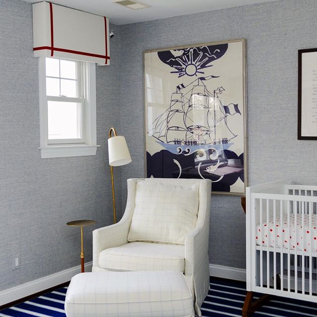 A nursery fit for a little captain. ⚓️⛵️#nautinursery