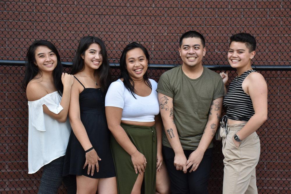 AKIN Team: (from left) Vivian Wang, Sam Midwinter, Ruthie Ofrasio, Hubert Silva, and Peyton Emery. Photo by Crystal Yu.