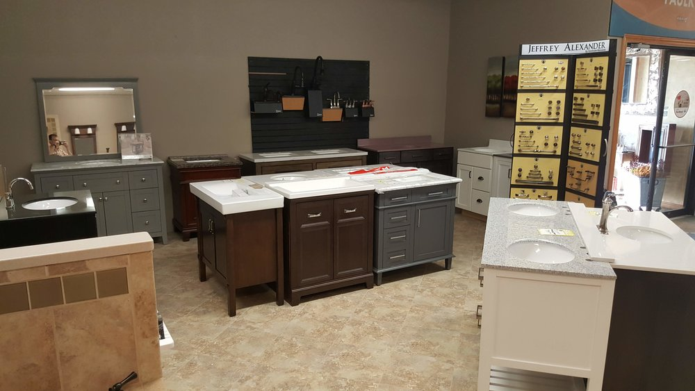 Bathroom vanities. Double and single sinks. Great Discounts. Mostly from Lowes and Home Depot as returns, scratch & dent, etc. Most of them have no visible issues at all. Beautiful vanities. Come see our selection.