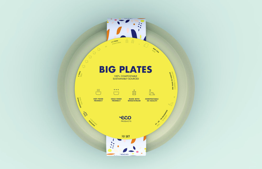 Labels are utilized as a platform to educate costumers on the benefits of compostability and recyclability.