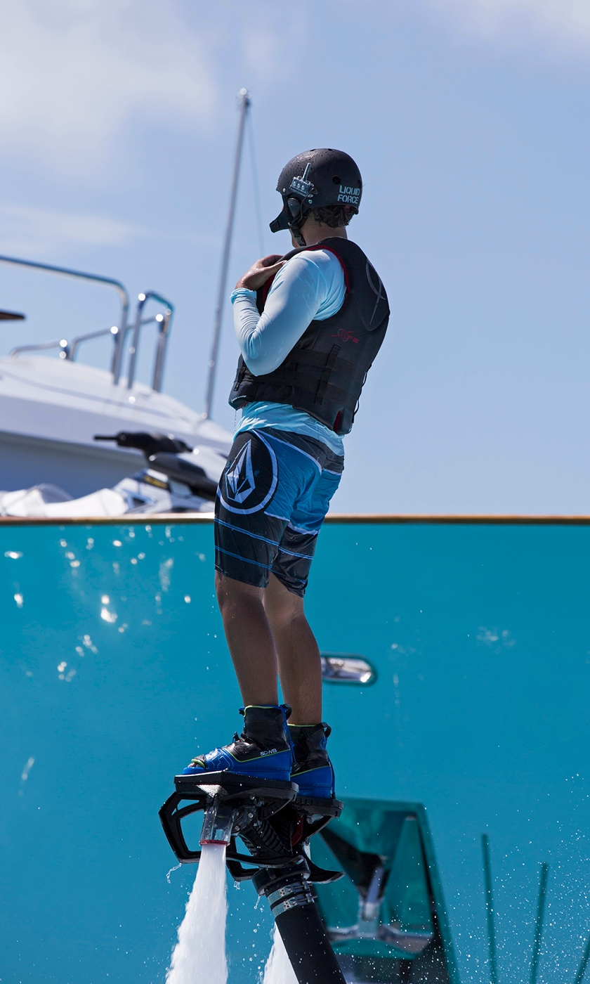 The Sweet Escape Flyboard® offers an exhilarating adventure.