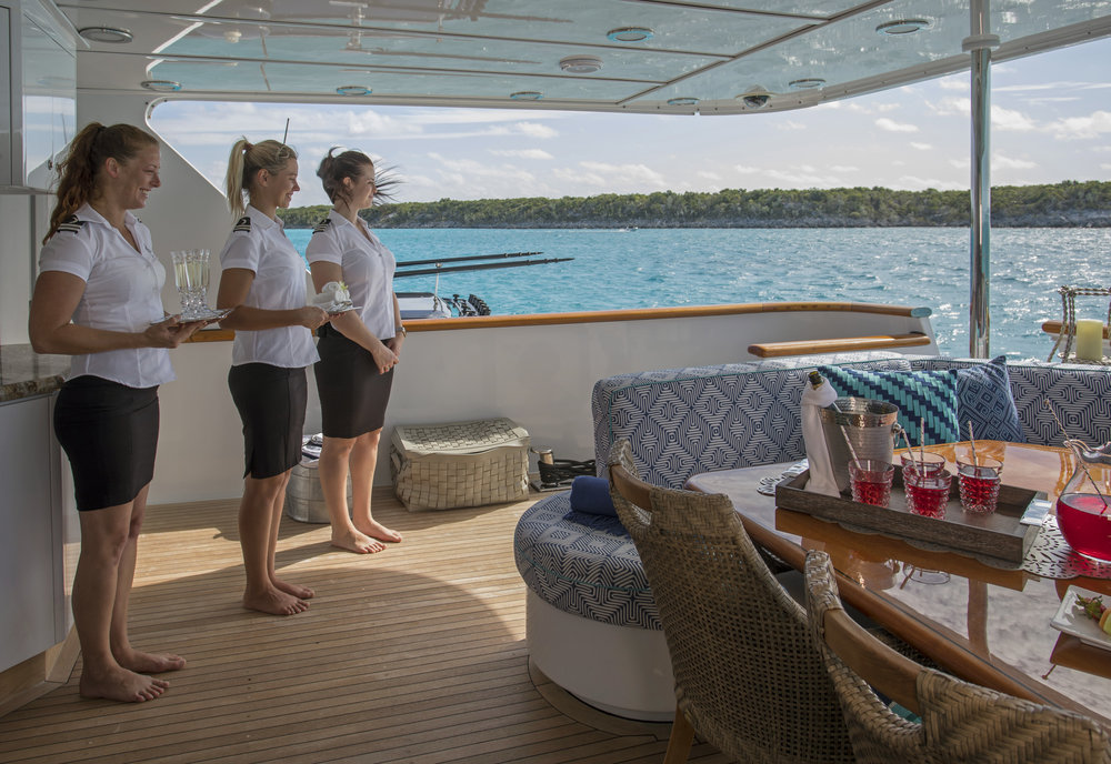 yacht-sweet-escape-crew-teak-welcome-luxury