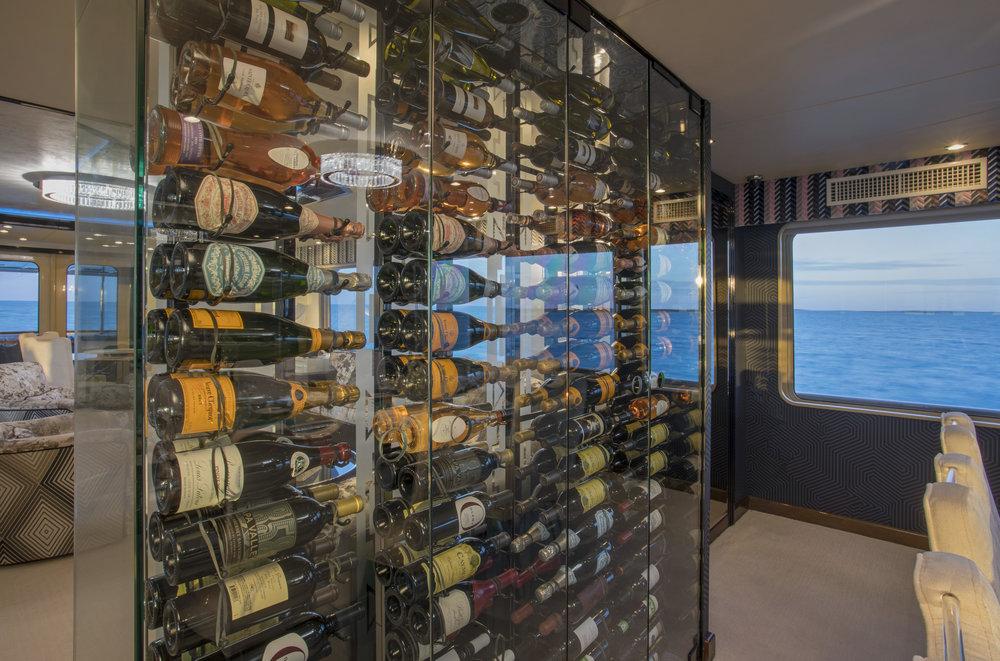 sweet-escape-art-pamela-dale-champagne-shoes-yacht-chalet-wine-wall