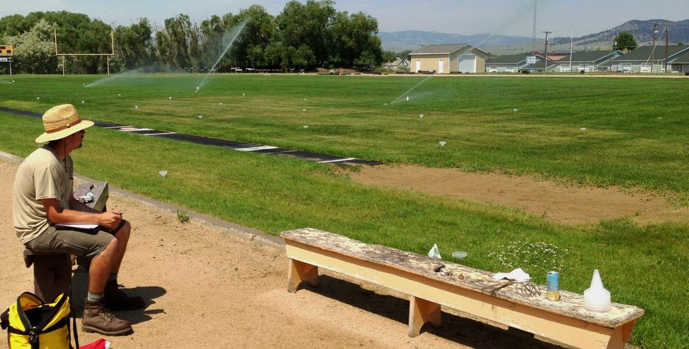 Water auditing a sports field.