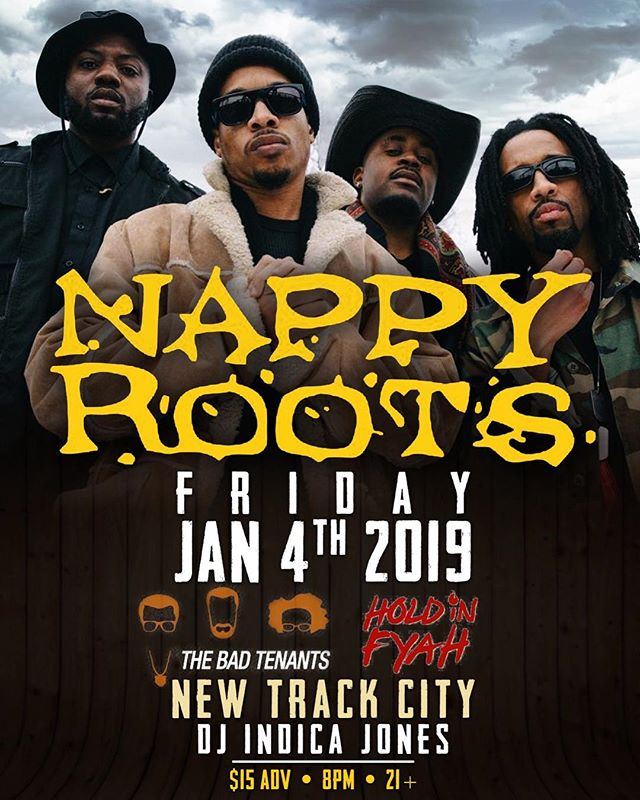 Next up!  We'll be with @nappyroots Jan 4 to kick off the new year!💥💥 Seattle fam, we got tickets! Hit the DM to get yours. Bad Tenants Delivery service will be in full effect! 👊