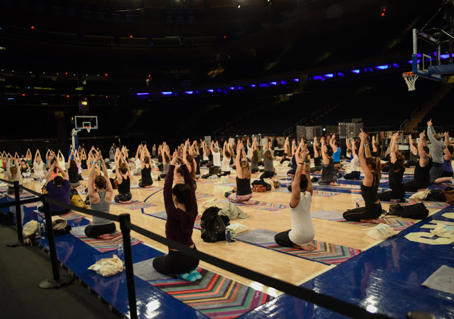 Yoga on Madison Square Garden's Court @ Impact Garden