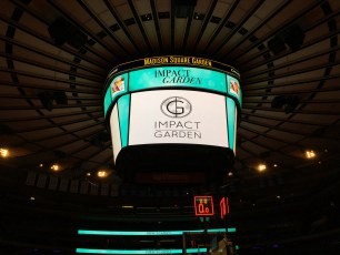 Impact Garden on the Jumbotron @ MSG