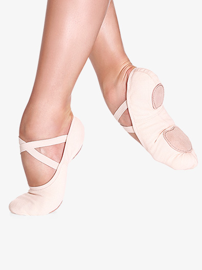 "SO DANCA Girls/Womens ""Bliss"" Stretch Canvas Split-Sole Ballet Shoes (Style No: SD16C and SD16)"