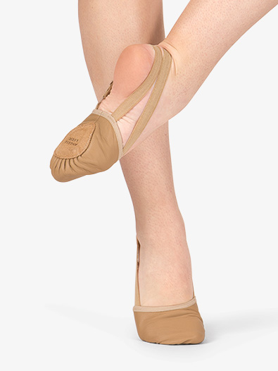 BODY WRAPPERS Leather Lyrical Shoe, Jazzy Tan (Style No: 621C and 621A)