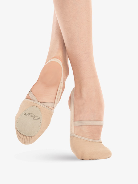 Dancers can be barefoot for class but will be required to have Capezio Pirouette II Canvas Lyrical Shoe (style #H061) for year-end showcase