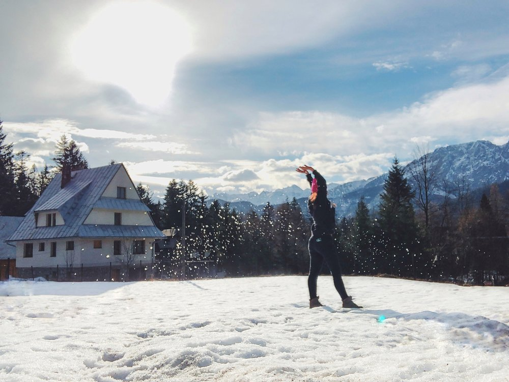 Zakopane, Poland: finishing a week of skiing and feeling on top of the world