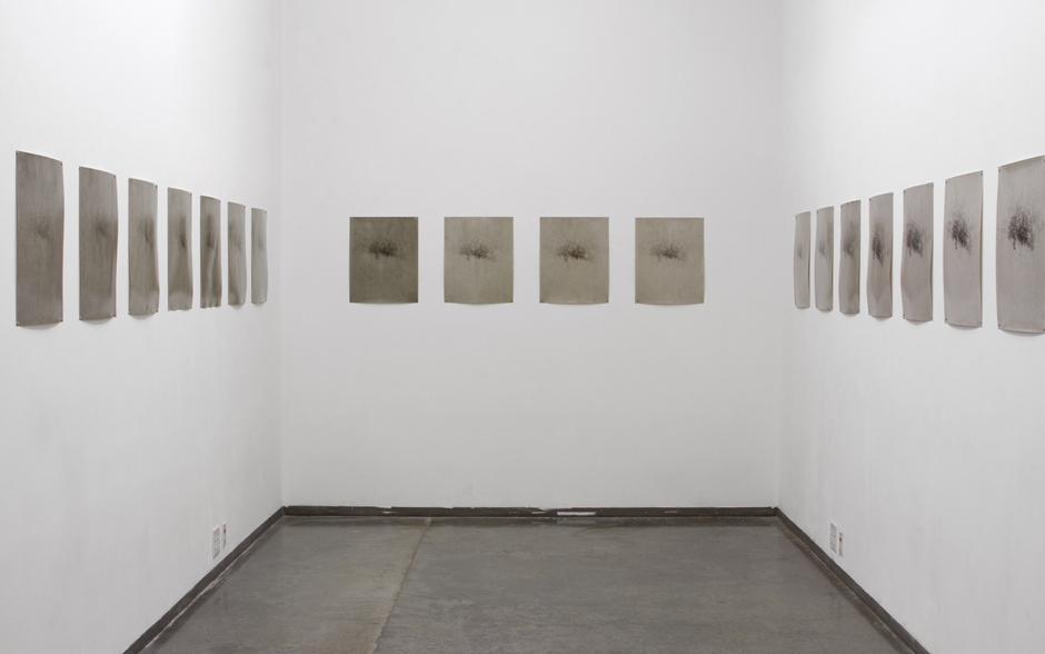 Morning Song (Morning Fog on Fogged Paper) , 2015, installation, gelatin silver prints, dimensions variable, 20 x 16 in. each