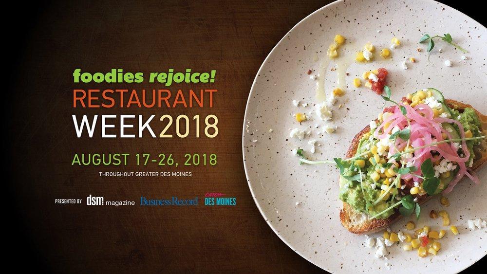 Des Moines Restaurant Week 2018