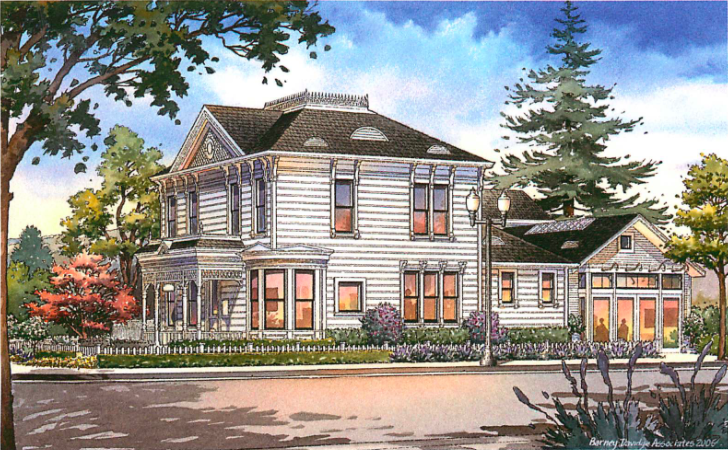 The Den is a Historic Landmark Building built in 1894.
