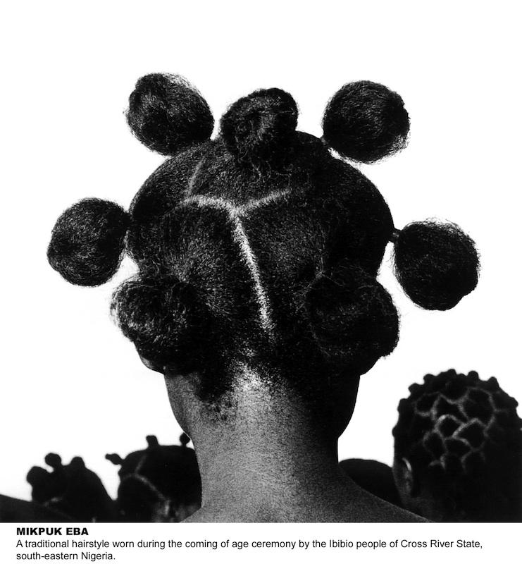 J.D. 'Okhai Ojeikere,  Mkpuk Eba , 1974, Silver gelatin print