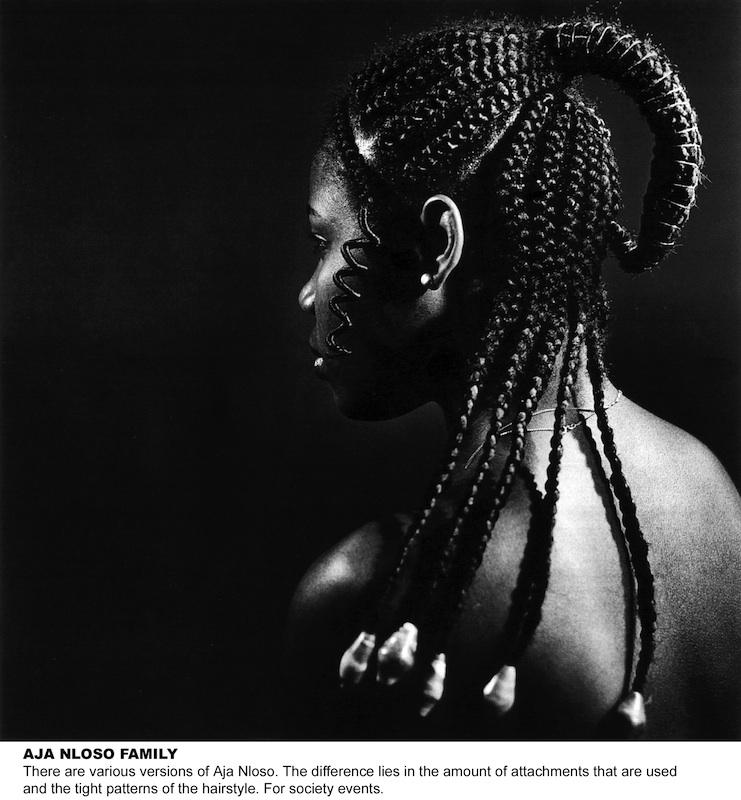 J.D. 'Okhai Ojeikere,  Aja Nloso Family , 1974, Silver gelatin print.