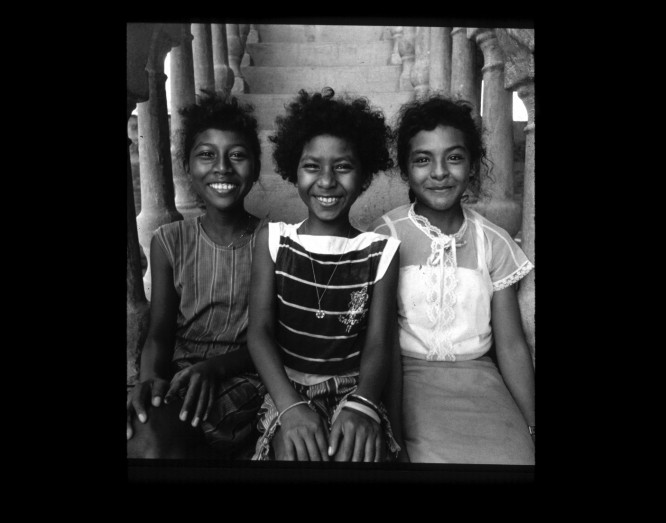 Tony Gleaton,  Tres Hermanas (Three Sisters)  from the series  Tengo Casi 500 Anos: Africa's Legacy in Central America , 1986, Silver gelatin print.