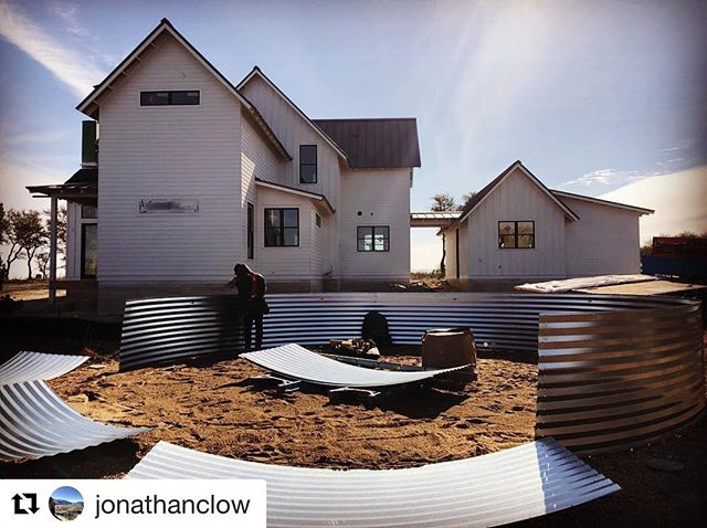 It's cold but at least the sun is shining! Rainwater harvesting install looking 👌🏻 #Repost / 📸 @jonathanclow