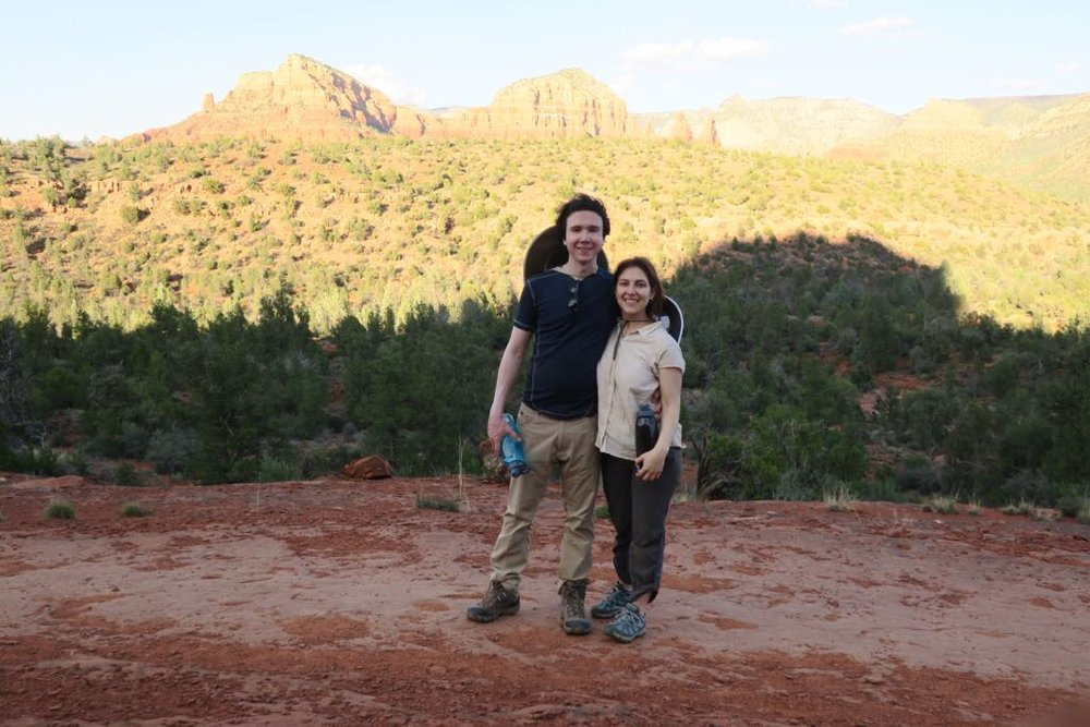with my wife in Arizona