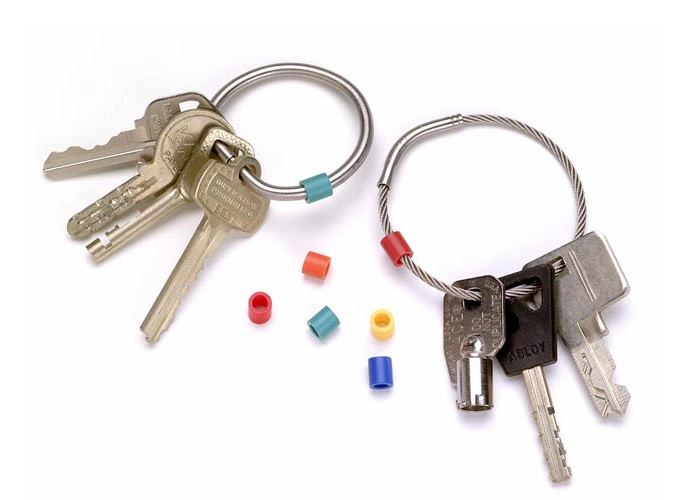 Tamper-Proof Key Rings and Color-Coded Tags 2