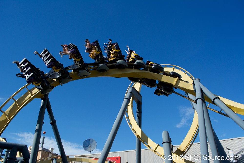 One of five inversions on Batman: The Ride.
