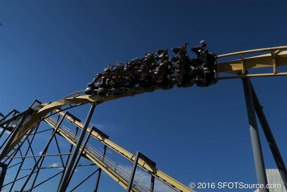 Riders sit 4 across in each row.