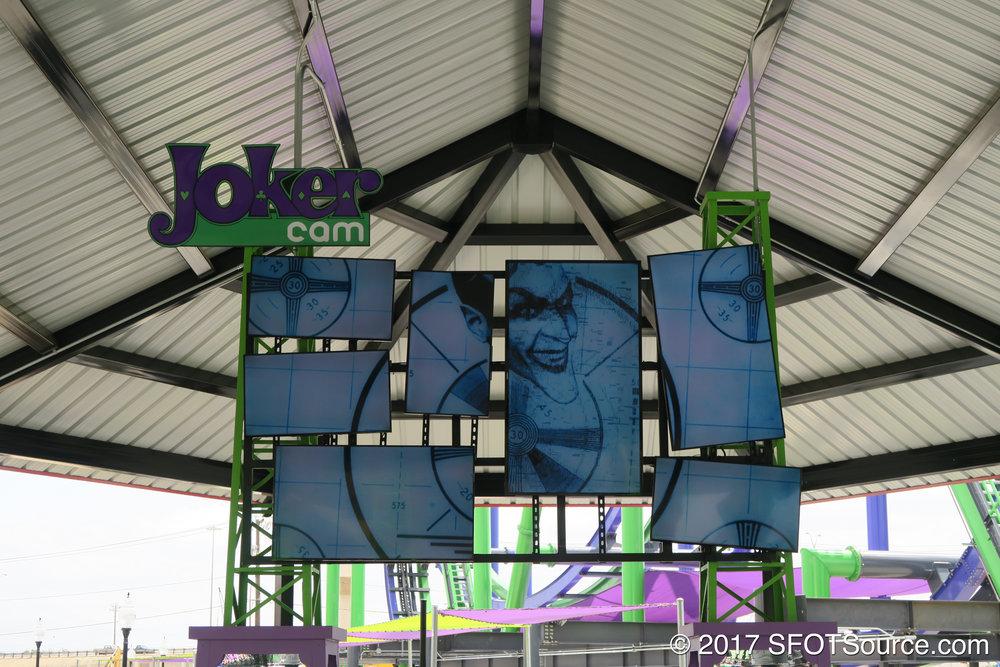 The Joker Cam found inside the queue line.