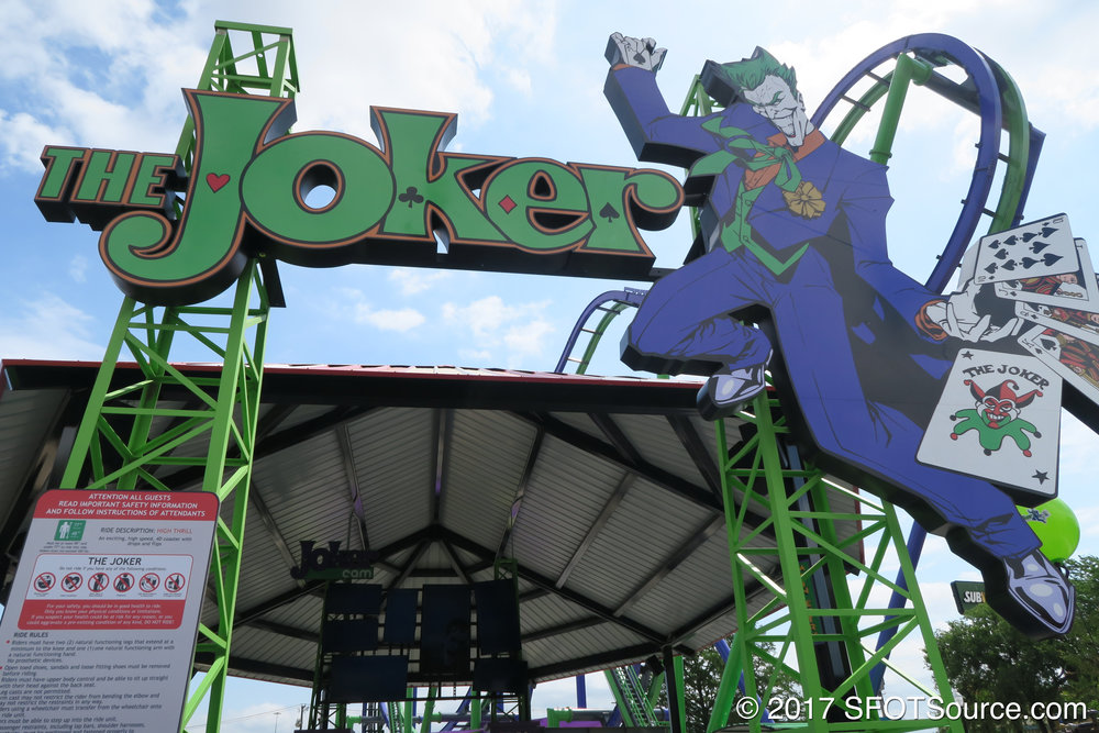 The main entrance signage to The Joker.