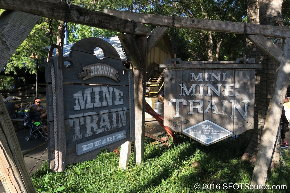 Mini Mine Train can be found right next to Runaway Mine Train.