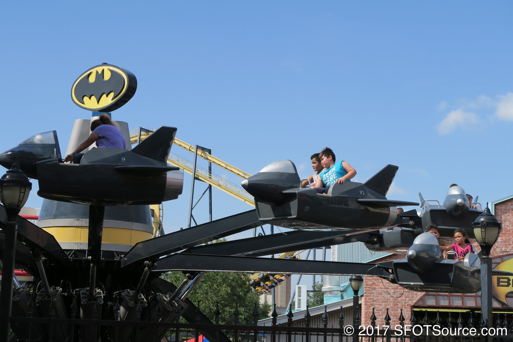 Batwing is featured in the park's Gotham City area.